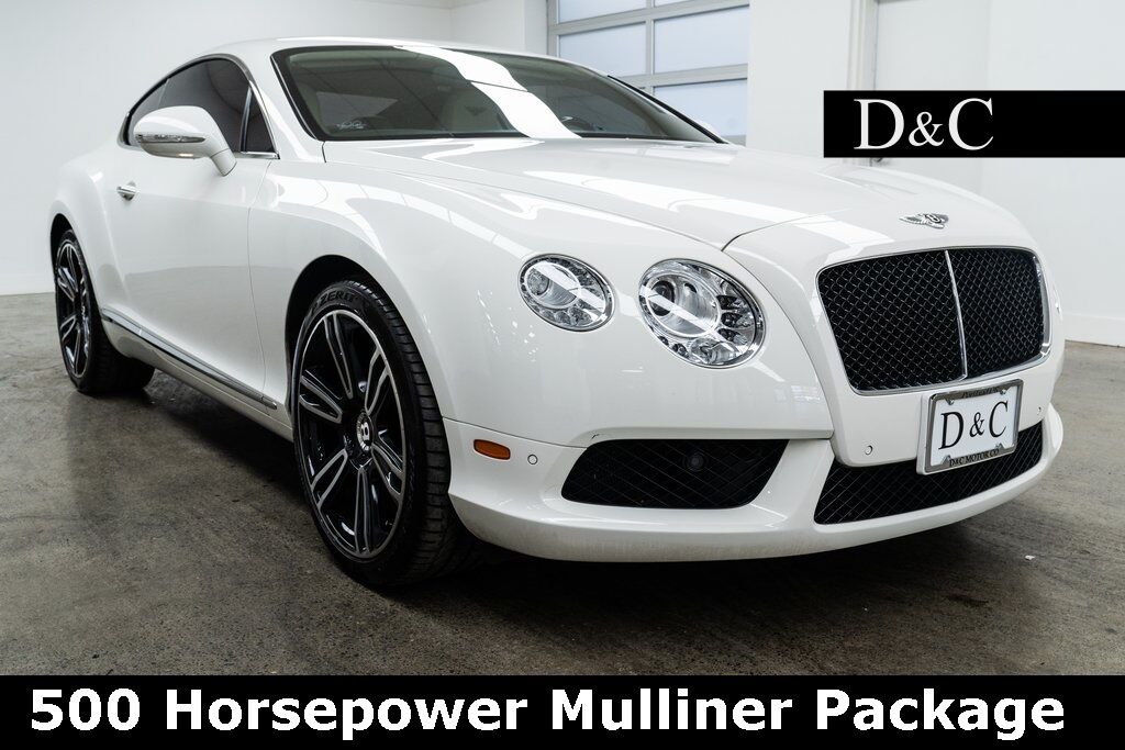 2013 Bentley Continental GT V8 500 Horsepower Mulliner Package Portland OR