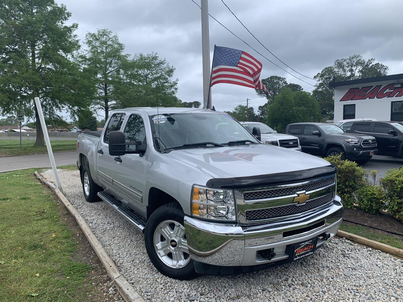 2013 CHEVROLET SILVERADO 1500 LT CREW CAB 4X4, WARRANTY, Z71 OFF ROAD PKG, LEATHER, BLUETOOTH, BACKUP CAM, TOW PKG! Norfolk VA