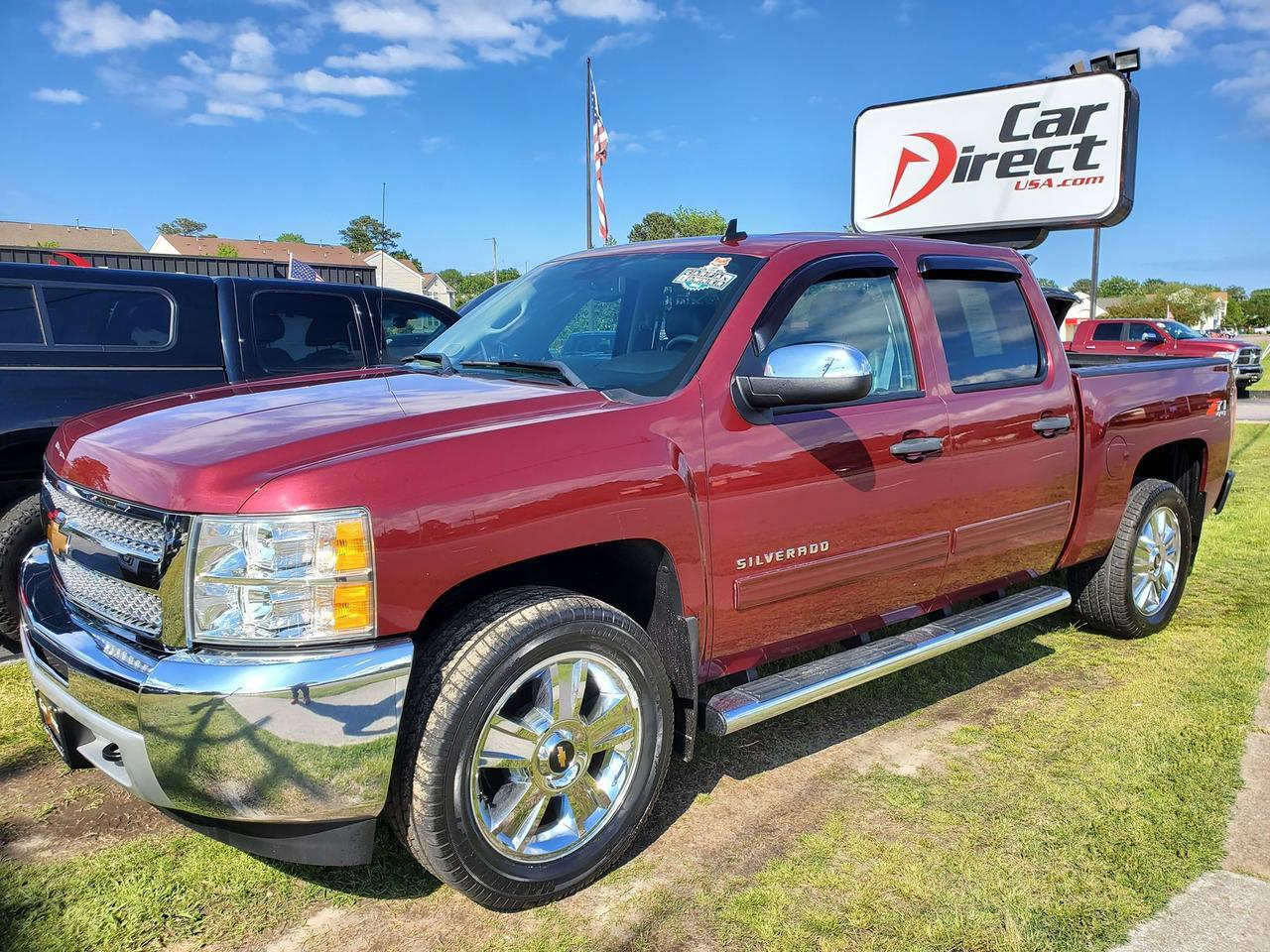 2013 CHEVROLET SILVERADO LT Z71 CREW CAB 4X4, WARRANTY, BACKUP CAMERA, BED LINER, BLUETOOTH, RUNNING BOARDS, LEATHER, ONSTAR! Virginia Beach VA