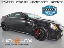 Cadillac CTS-V Coupe *HENNESSEY HPE700 PKG, NAVIGATION, BACKUP-CAMERA, BLIND SPOT ALERT, SUNROOF, CLIMATE RECARO SEATS, LEATHER, BOSE, BLUETOOTH PHONE & AUDIO 2013