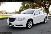 2013 Chrysler 200 LX Striking! White-on-Black, Sport Wheels, Very Clean!
