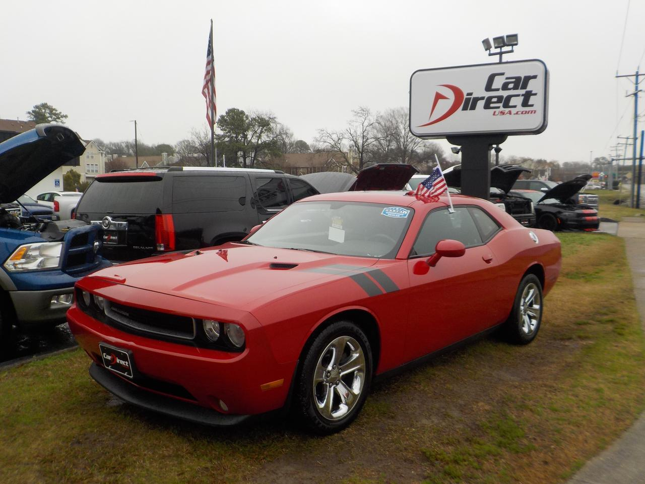 2013 DODGE CHALLENGER SXT COUPE RWD, WARRANTY, NAVIGATION, SUNROOF, KEYLESS START, PARKING SENSORS, HEATED SEATS, SUNROOF! Virginia Beach VA
