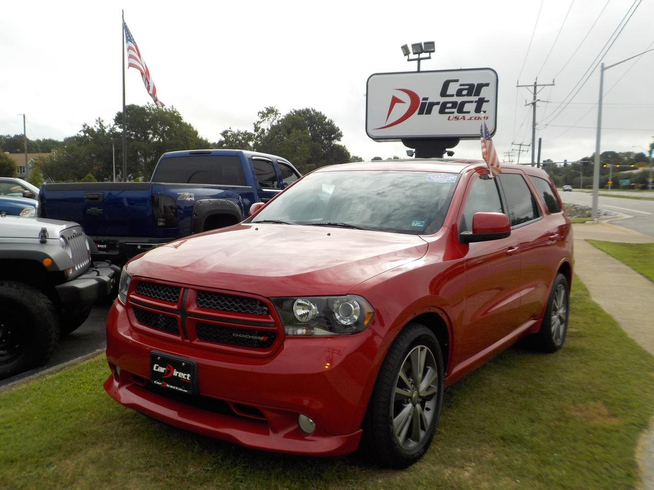 2013 DODGE DURANGO R/T, AWD, HEMI V8, THIRD ROW, UCONNECT, BACK UP CAMERA,  LOW MILES, IMMACULATE WITH WARRANTY!!!