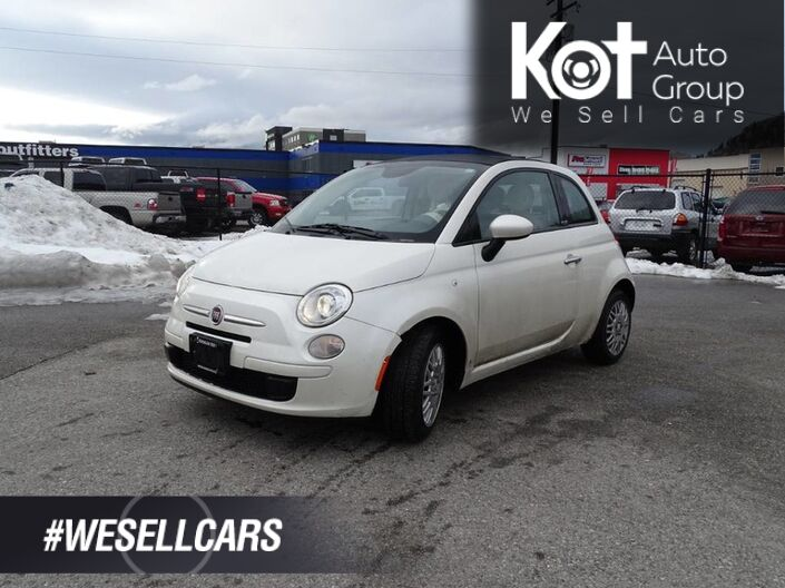 2013 FIAT 500 Pop, Convertible, Manual Transmission Kelowna BC