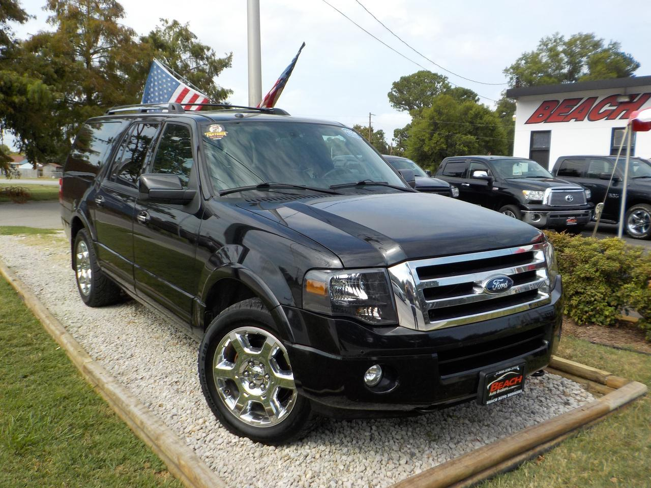 2013 FORD EXPEDITION EL LIMITED 4X4, WARRANTY, LEATHER, NAV, HEATED/COOLED SEATS, DVD PLAYER, BACKUP CAM, FULLY LOADED!