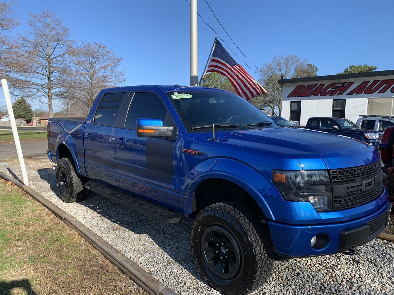 2013 FORD F-150 FX4 PREMIUM SUPERCREW 4X4, RAPTOR WHEELS, WARRANTY, NAVIGATION, SUNROOF, HEATED/COOLED LEATHER SEATS Norfolk VA