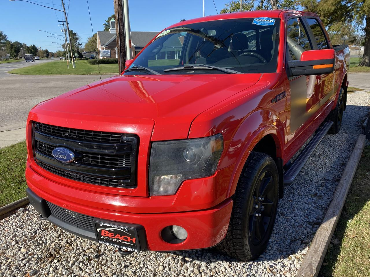 2013 FORD F-150 FX4 SUPERCREW 4X4, WARRANTY, LEATHER, NAV, BLUETOOTH, AUX/USB PORT, CLEAN CARFAX! Norfolk VA