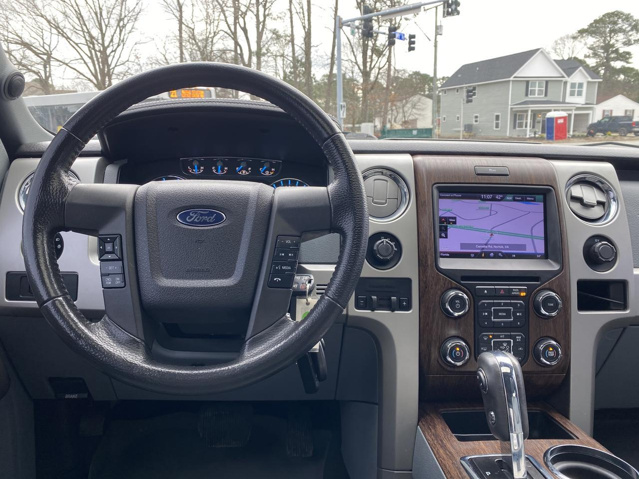 2013 FORD F-150 LARIAT SUPERCREW 4X4, WARRANTY, LEATHER, NAV, HEATED SEATS, BLUETOOTH, BACKUP CAM, 1 OWNER, CLEAN! Norfolk VA