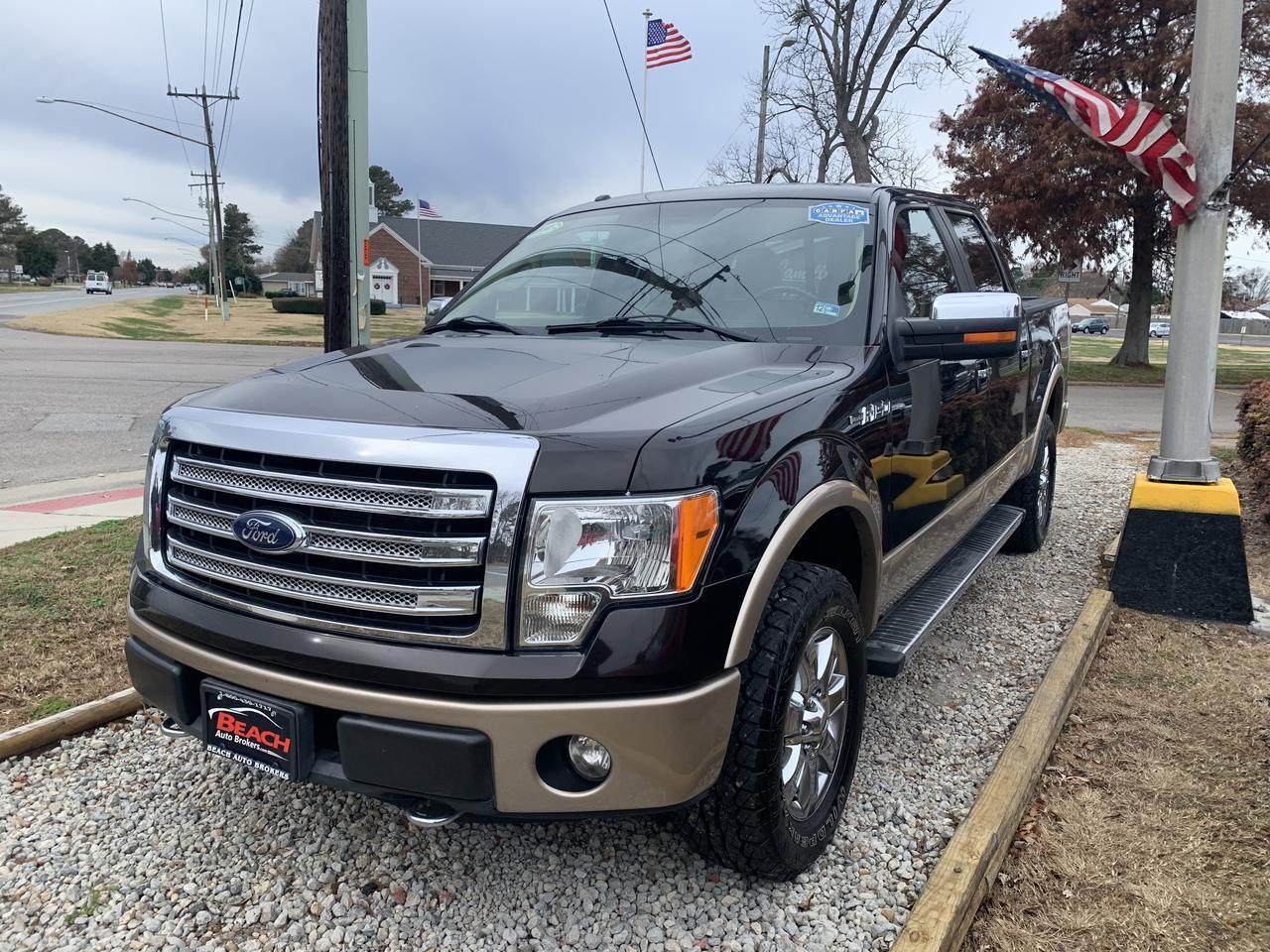 2013 FORD F-150 LARIAT SUPERCREW 4X4, WARRANTY, LEATHER, SUNROOF, HEATED SEATS, NAV, BLUETOOTH, REMOTE START! Norfolk VA