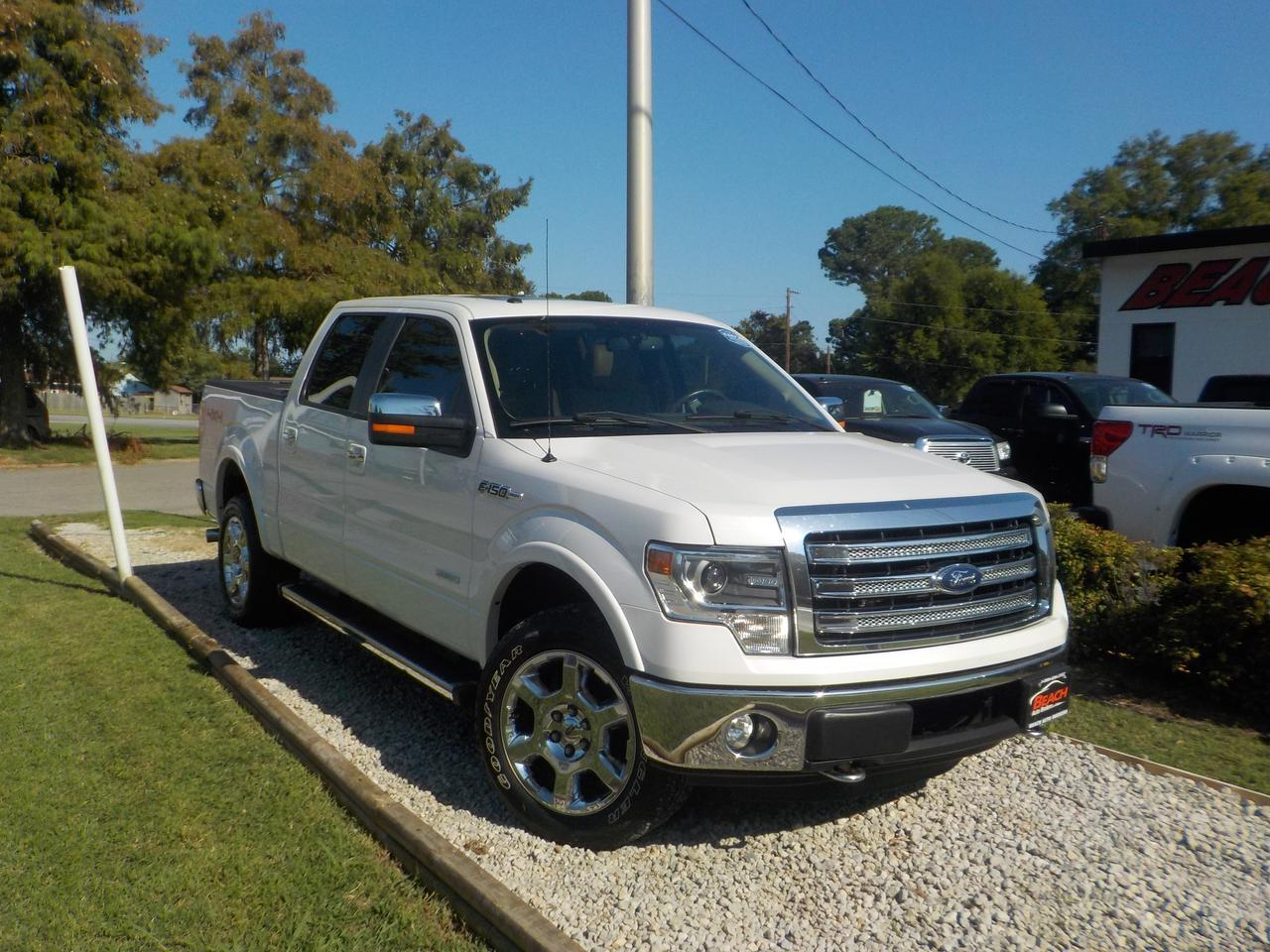2013 FORD F-150 LARIAT SUPERCREW 4X4, WARRANTY, LEATHER, SUNROOF, REMOTE START, NAV, BLUETOOTH, HEATED/COOLED SEATS! Norfolk VA