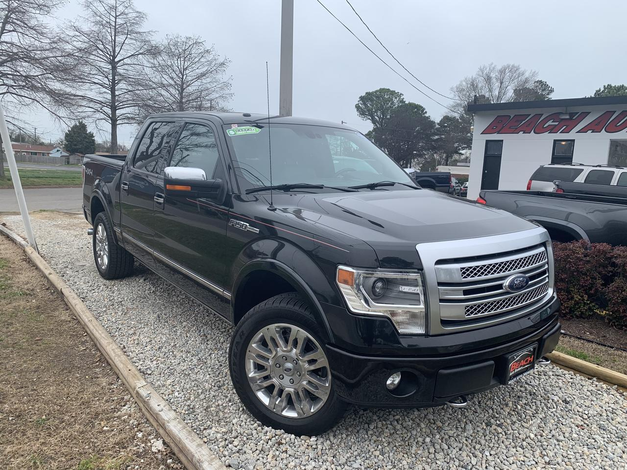 2013 FORD F-150 PLATINUM SUPERCREW 4X4, WARRANTY, LEATHER, NAV, SUNROOF, HEATED/COOLED SEATS, 1 OWNER, CLEAN CARFAX! Norfolk VA