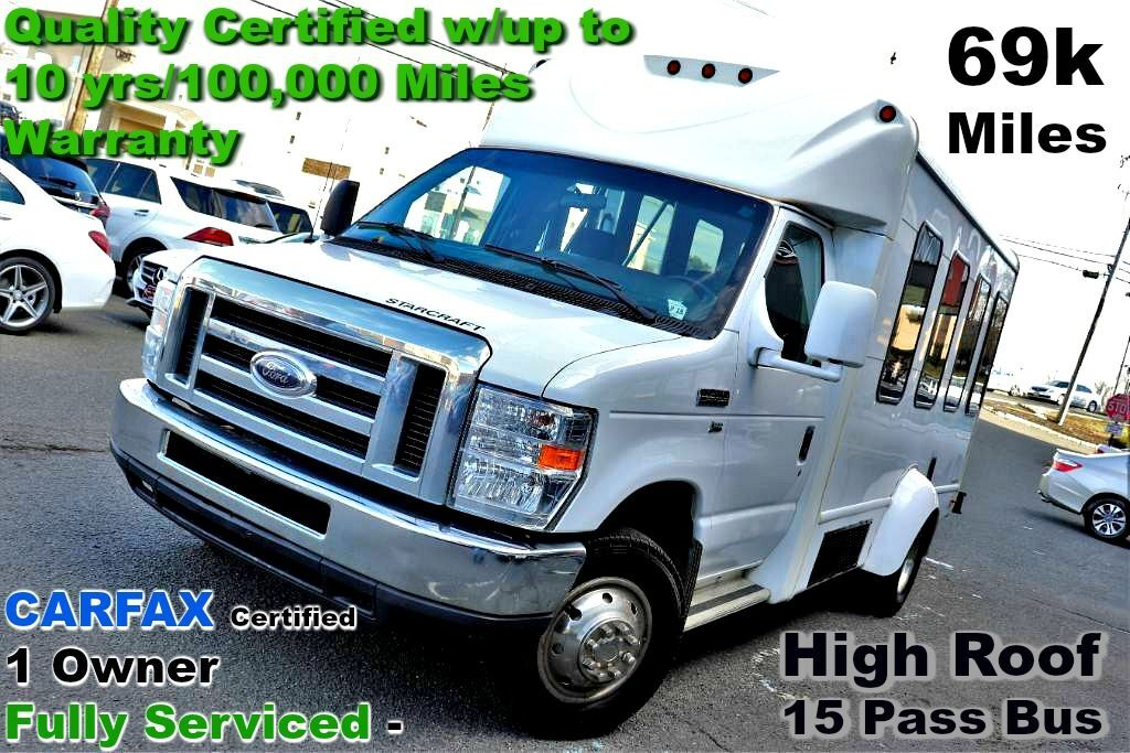 2013 Ford Econoline Commercial Cutaway 15 Pass Bus - Clean CARFAX - Fully Serviced - Quality Cartified Springfield NJ