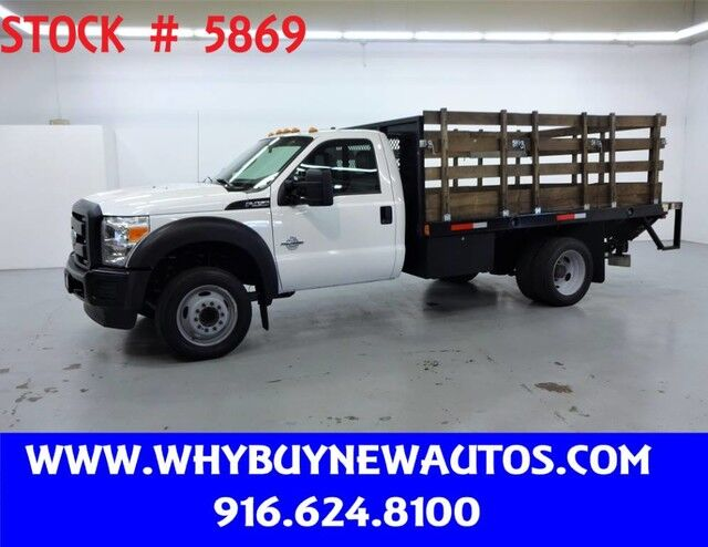 2013 Ford F450 ~ Diesel ~ 12ft. Stake Bed ~ Liftgate ~ Only 51K Miles! Rocklin CA