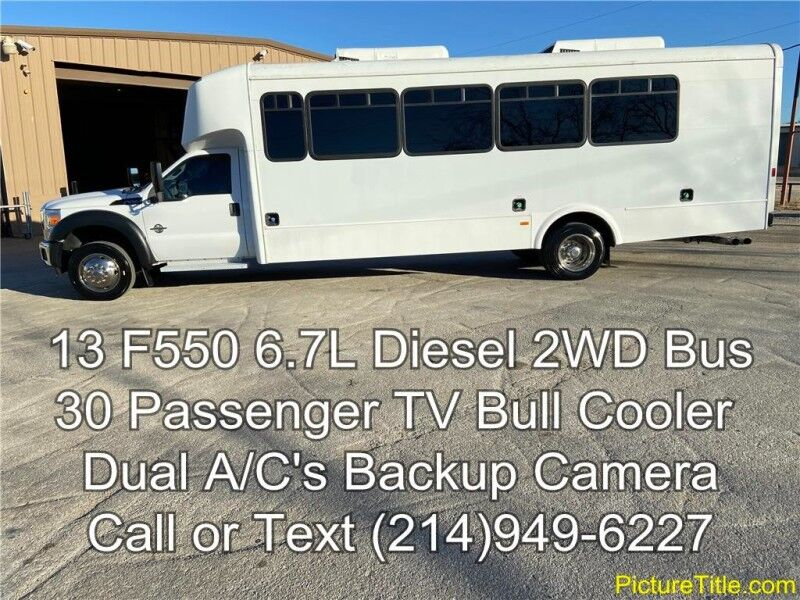 2013 Ford Super Duty F-550 DRW 2013 2WD 6.7L Diesel 30 Passenger TV Bull Cooler New Tires Arlington TX