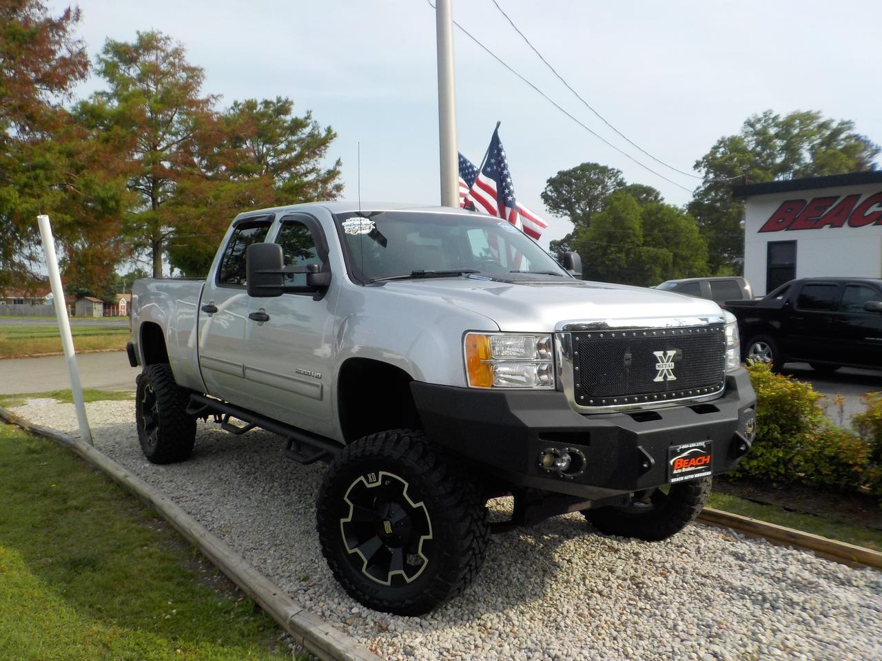 2013 GMC SIERRA 2500 HD SLE CREW CAB 4X4, WARRANTY, LIFTED, DIESEL, LEATHER, NAV, BACKUP CAM, CLEAN CARFAX! Norfolk VA