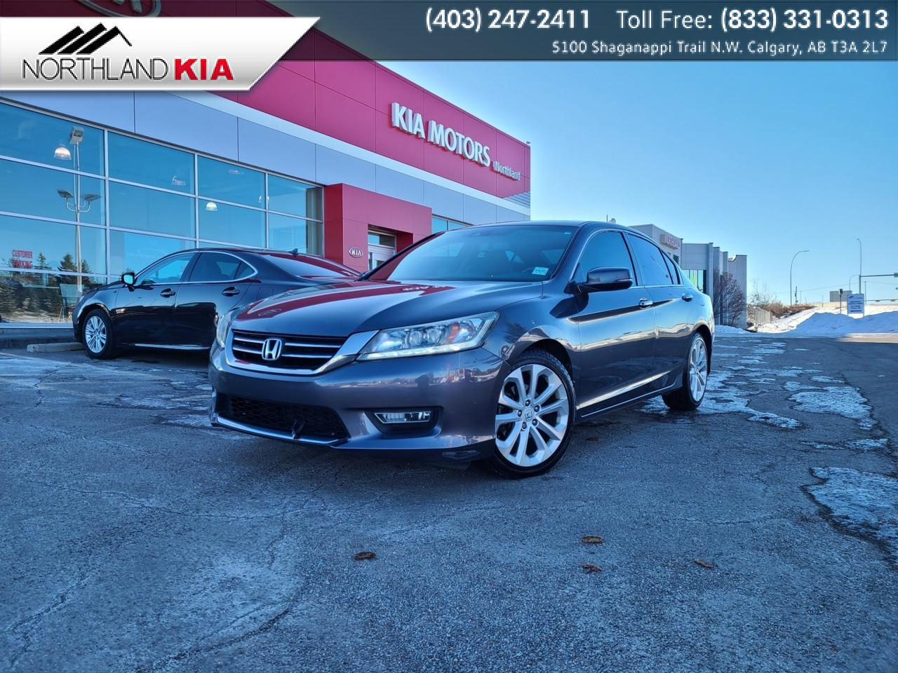 2013 Honda Accord Sedan Touring HEATED FRONT/BACK SEATS, BACKUP CAMERA, NAV, BLINDSPOT MONITOR Calgary AB