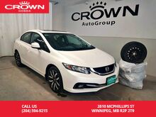 2013_Honda_Civic Sdn_4dr Auto Touring/winter tires/remote starter/low kms/ sunroof/ econ mode assist/back up cam/heated seats_ Winnipeg MB