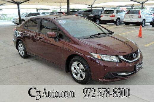 2013 Honda Civic Sdn LX Plano TX