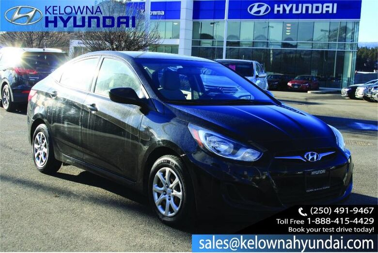 2013 Hyundai Accent GL Heated Front Seats, Hands free Bluetooth Kelowna BC