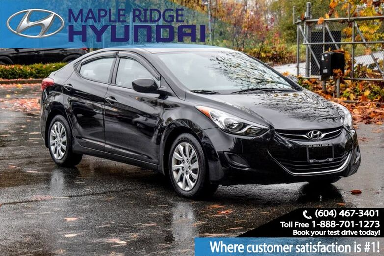2013 Hyundai Elantra Bluetooth, Keyless Entry, Heated Seats, and Satellite Radio Maple Ridge BC