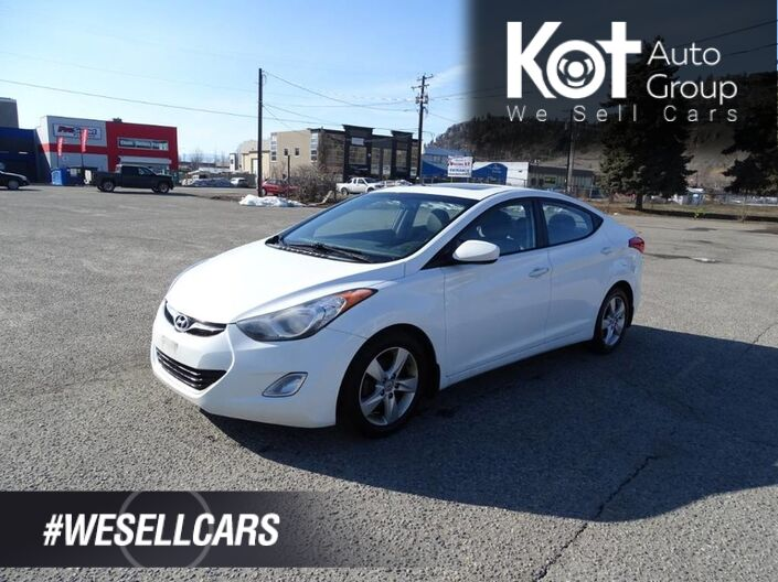 2013 Hyundai Elantra GLS, Heated Seats, Sunroof, Manual Transmission Kelowna BC