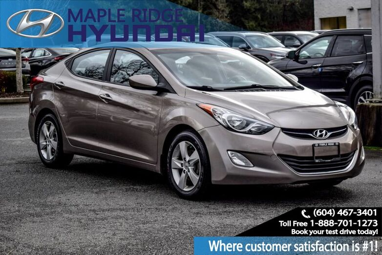 2013 Hyundai Elantra GLS, Moonroof, Bluetooth, Heated seats, Power Group Maple Ridge BC