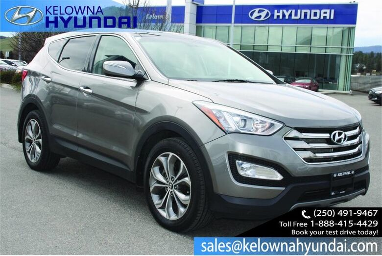 2013 Hyundai Santa Fe Limited Sunroof, Leather, Back up cam, Navigation Penticton BC
