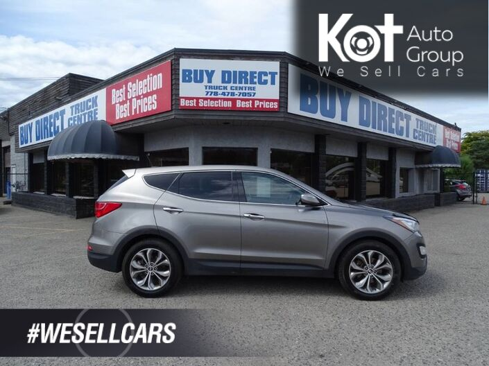 2013 Hyundai Santa Fe SE, Heated Leather Seats, Turbo, Panoramic Sunroof, Heated Steering Wheel, Eco Mode, Back-up Camera Kelowna BC