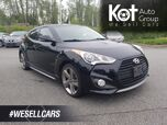 2013 Hyundai VELOSTER COUPE TURBO! LEATHER! PANORAMIC SUNROOF! NAVIGATION! BACKUP CAM!