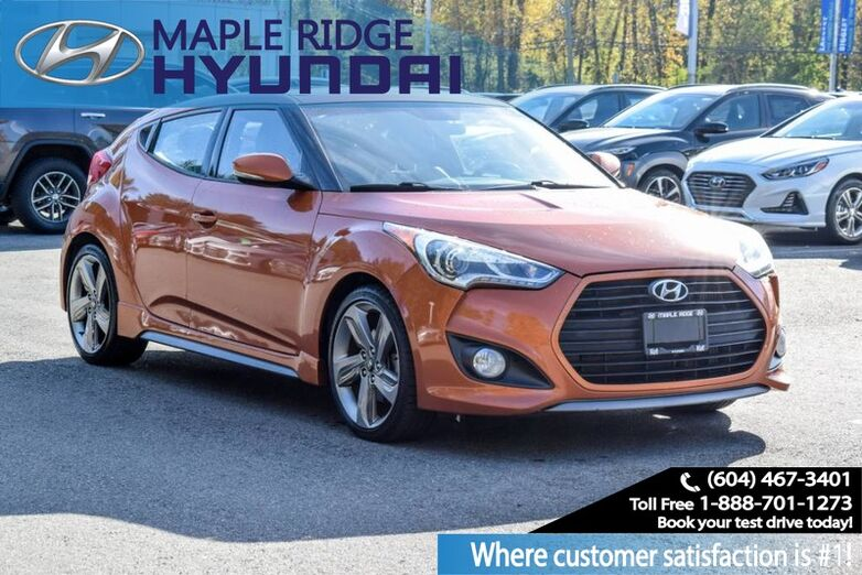 2013 Hyundai Veloster Turbo, 6 Speed, Navigation, Backup Camera, Push Button Start Maple Ridge BC