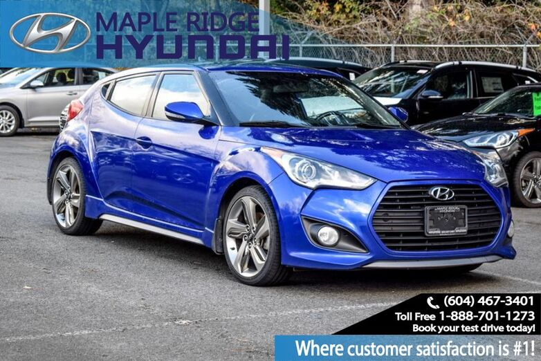 2013 Hyundai Veloster Turbo, 6 Speed manual, Power Group, Local car with clean Carfax. Maple Ridge BC