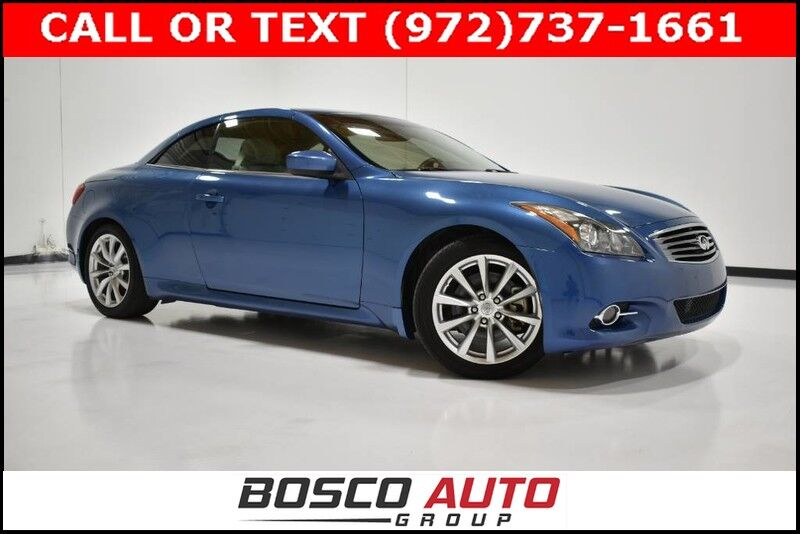 2013 INFINITI G37 Convertible Base Flower Mound TX