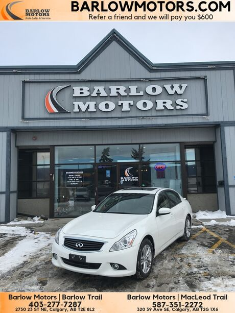 2013 INFINITI G37 Sedan AWD Sunroof Navigation One Owner Calgary AB