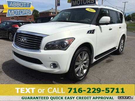 2013 INFINITI QX56 4WD 1-Owner w/3rd Row and DVD Buffalo NY