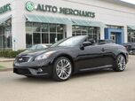 2013 Infiniti G Convertible G37 Sport NAV, HTD/COOLED STS, BOSE, PARK AID, BACKUP CAM, BLUETOOTH, PUSH BUTTON, AUX INPUT