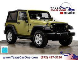 2013_Jeep_Wrangler_SPORT 4WD SOFT TOP CONVERTIBLE CRUISE CONTROL ALLOY WHEELS TOWIN_ Carrollton TX