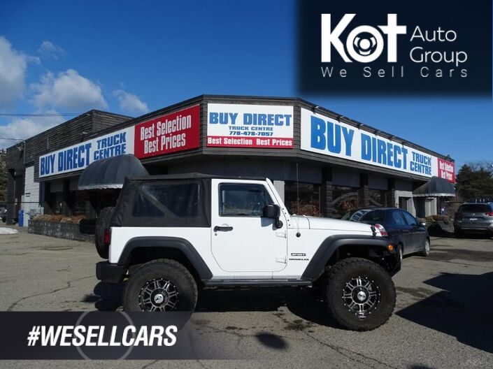2013 Jeep Wrangler Sport, Manual Transmission, Soft Top Kelowna BC