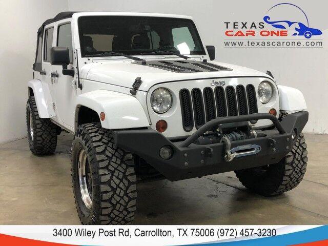 2013 Jeep Wrangler UNLIMITED SAHARA 4WD SOFT TOP CONVERTIBLE NAVIGATION CRUISE CONTROL Carrollton TX