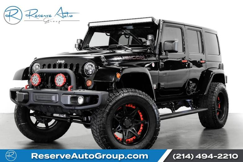 2013 Jeep Wrangler Unlimited Rubicon 10th Anniversary Navigation Lifted LED Lights The Colony TX