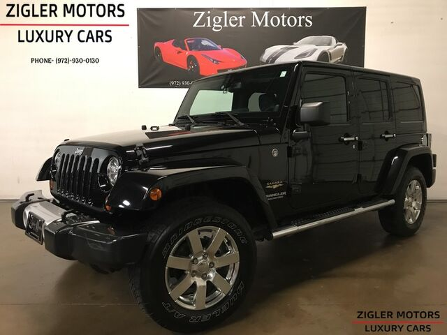 2013 Jeep Wrangler Unlimited Sahara Low miles 1-Owner Clean Carfax Nav NICE! Addison TX