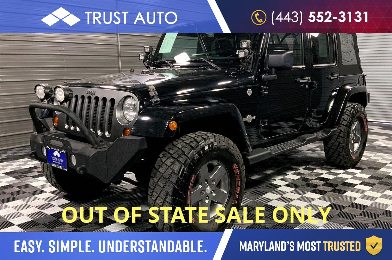 2013 Jeep Wrangler Unlimited Sport Oscar Mike Edition 4x4 SUV Sykesville MD