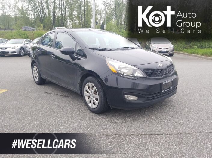 2013 Kia RIO LX! MANUAL! LOCAL UNIT! SUPER LOW PAYMENTS! SAVE ON GAS! Penticton BC