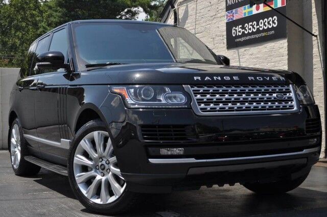 2013 Land Rover Range Rover Supercharged 510 HP/Full-Time 4WD/Grand Black Wood/Four-Zone Climate Comfort Pack/Panoramic Glass Roof/CoolBox/Meridian Sound/Running Boards Nashville TN
