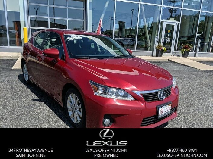 2013 Lexus CT 200h Base Saint John NB