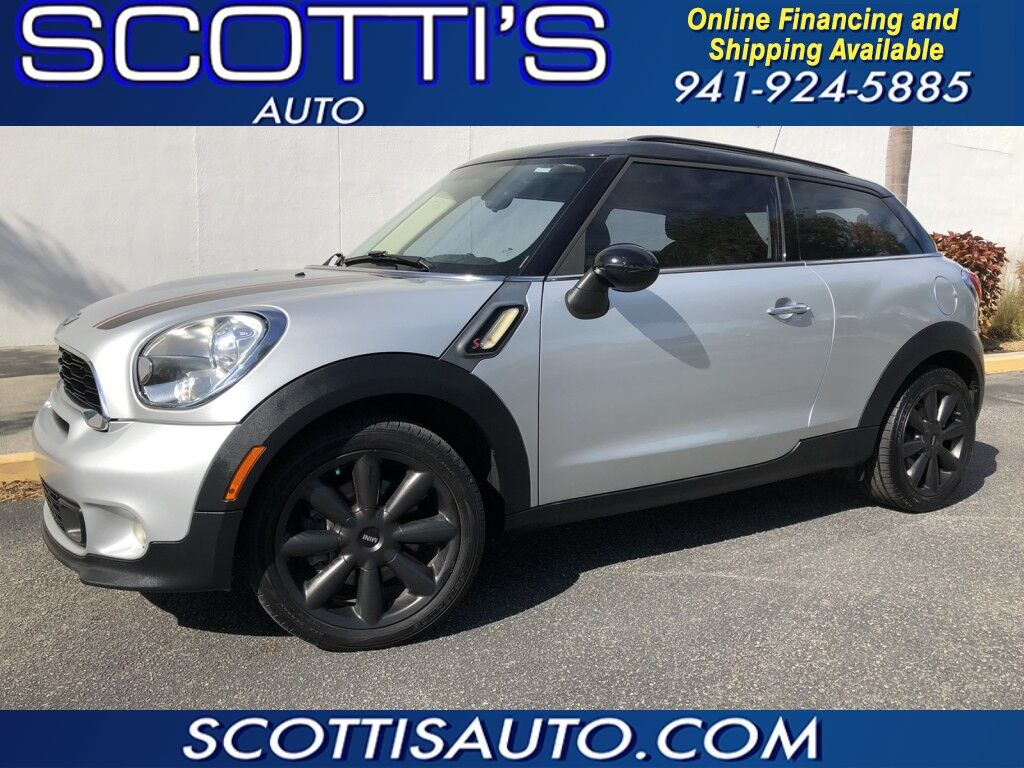 2013 MINI Cooper Paceman S~ TURBOCHARGED~ CLEAN CARFAX~ LOW MILES~ GREAT COLOR~AUTO~ LOOKS AND RUNS GREAT~ ONLINE FINANCE AND SHIPPING! APPLY NOW AT WWW.SCOTTISAUTOSALES.COM Sarasota FL
