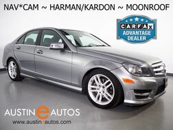 2013_Mercedes-Benz_C-Class C 250 Sport_*NAVIGATION, BACKUP-CAMERA, MOONROOF, HEATED SEATS, HARMAN/KARDON AUDIO, ALLOY WHEELS, SATELLITE RADIO, BLUETOOTH_ Round Rock TX