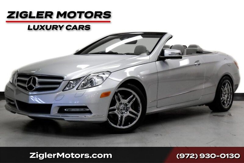2013 Mercedes-Benz E-Class E 350 Cabriolet One Owner Sport Appearance Driver Assist Prem 2 Blind Spot Keyless-Go Clean Carfax Addison TX