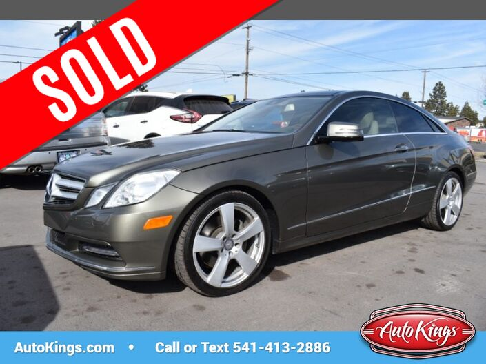 2013 Mercedes-Benz E-Class E350 4MATIC Coupe Bend OR