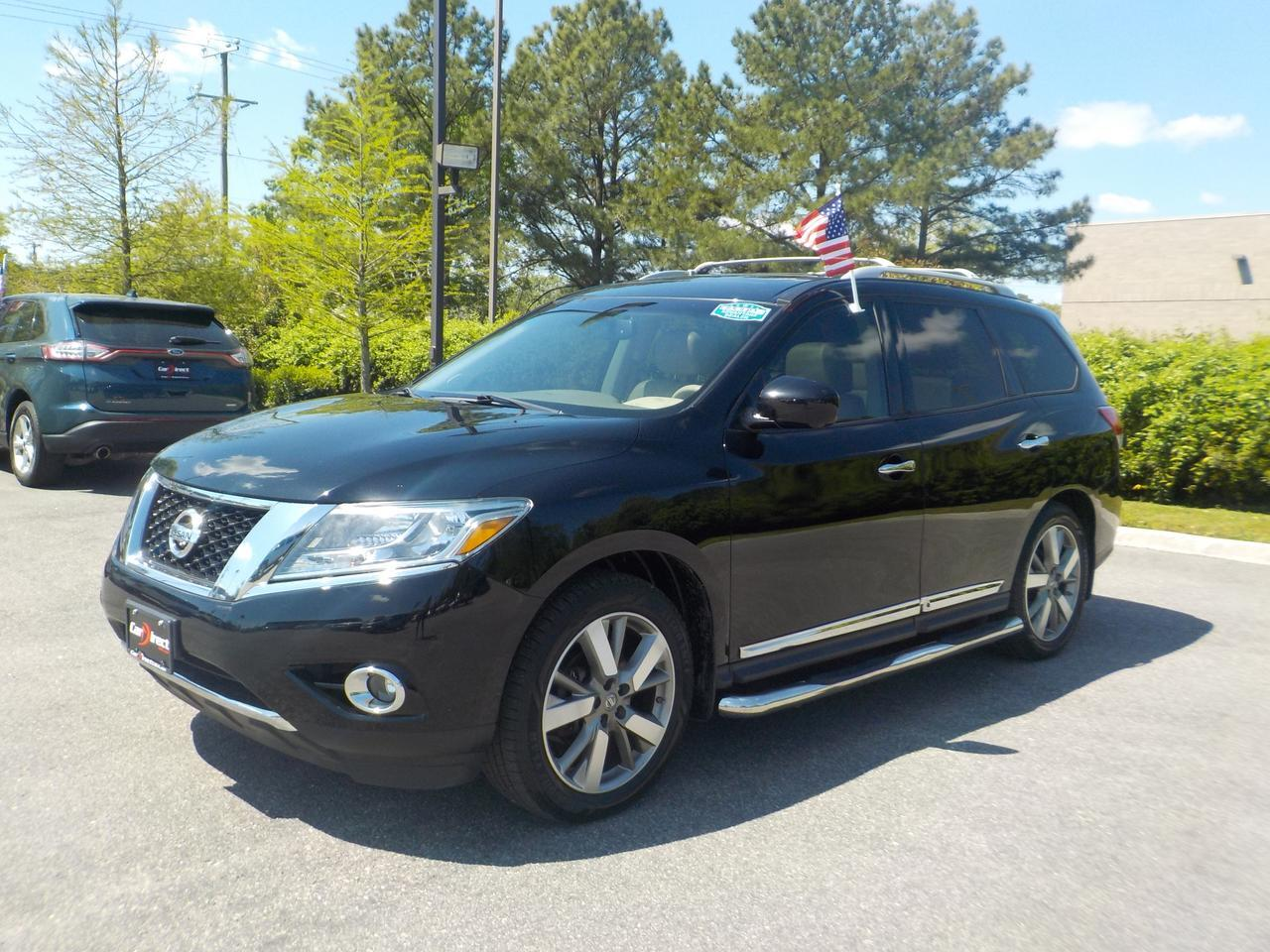 2013 NISSAN PATHFINDER PLATINUM 4X4, LEATHER, 3RD ROW SEAT, DVD, NAVIGATION, BLUETOOTH, ONLY 94K MILES!
