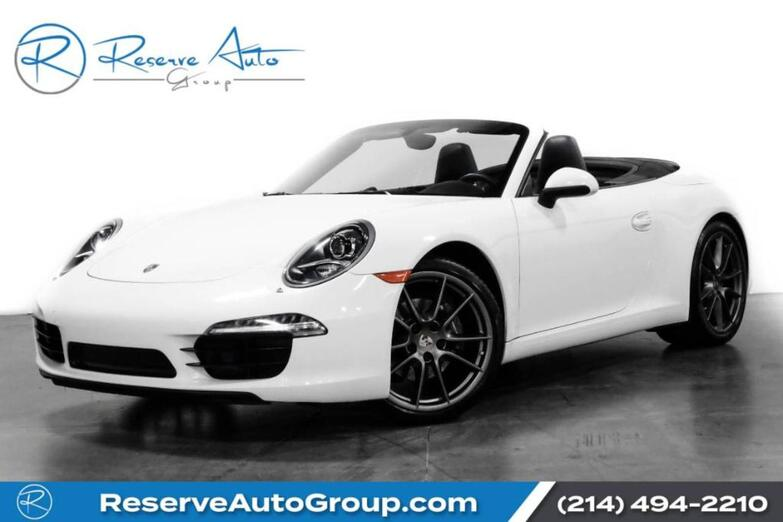 2013 Porsche 911 Carrera Cabriolet PDK Sport Chrono Premium Plus Pkg Full Leather The Colony TX